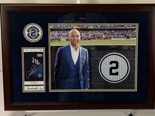 New York Yankees Derek Jeter Autographed Ticket the Day his Number was Retired