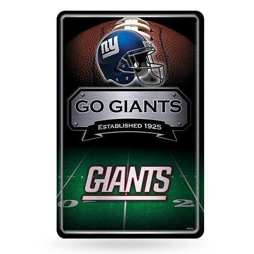 New York Giants Metal Sign