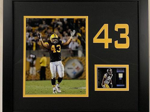 Pittsburgh Steelers Troy Polamalu Game Used Jersey Card