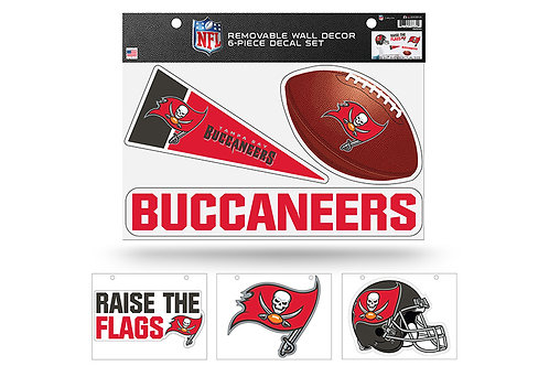 Tampa Bay Buccaneers 6 pack Wall Decals