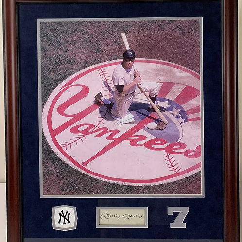 New York Yankees Mickey Mantle Autographed Cut