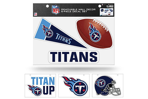 Tennessee Titans 6 pack Wall Decals