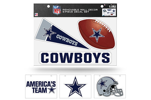 Dallas Cowboys 6 pack Wall Decals