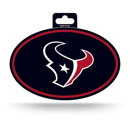 Houston Texans Oval Sticker