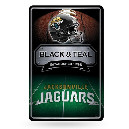 Jacksonville Jaguars Metal Sign