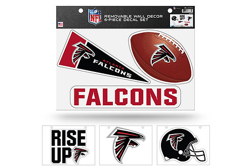 Atlanta Falcons 6 pack Wall Decals