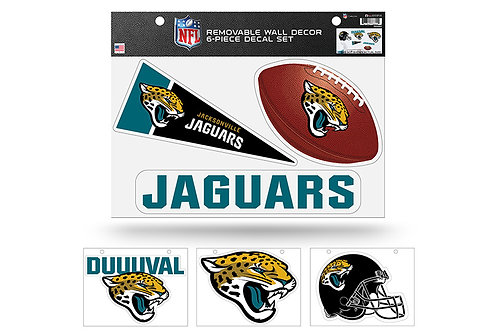 Jacksonville Jaguars 6 pack Wall Decals
