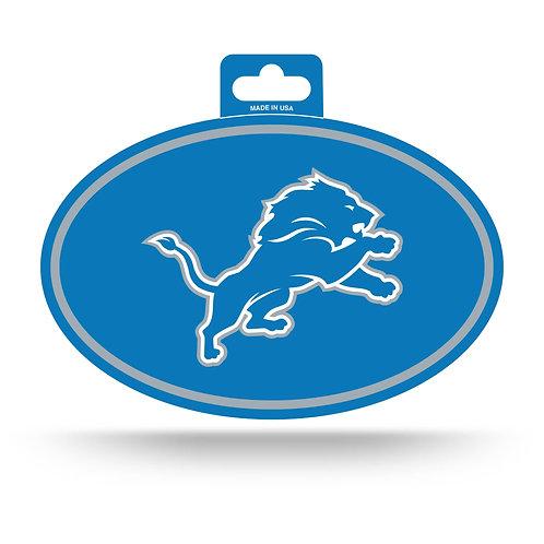 Detroit Lions Oval Sticker