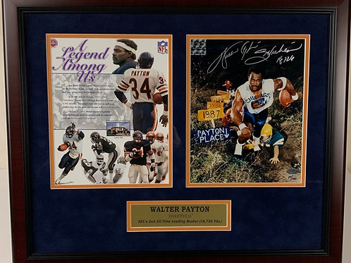 Chicago Bears Walter Payton Autographed Photo