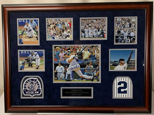 New York Yankees Derek Jeter Autographed 3000th Hit Game