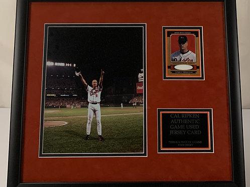 Baltimore Orioles Cal Ripken Jr. Game Used Jersey Card