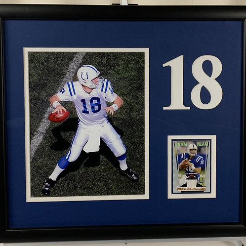 Indianapolis Colts Peyton Manning Game Used Jersey Card