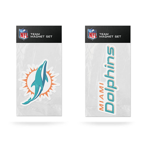 Miami Dolphins 2-Pack Magnet Set
