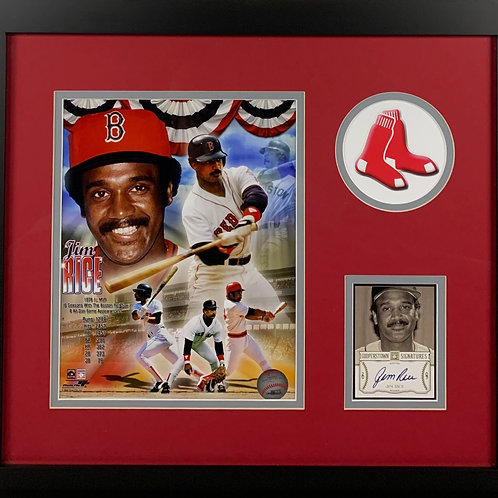 Boston Red Sox Jim Rice Autographed Card