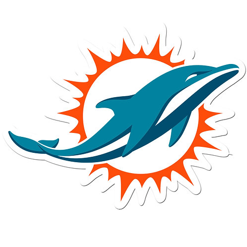 "Miami Dolphins 8"" Auto Decal"