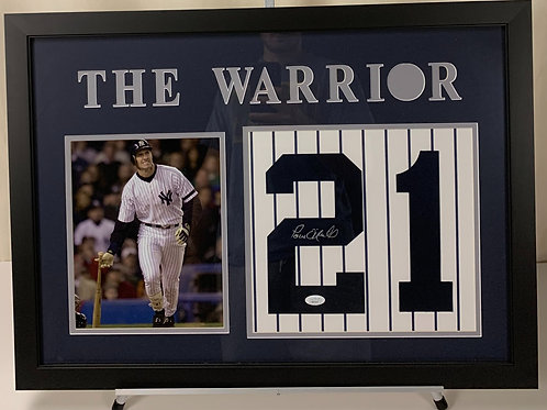 New York Yankees Paul O'Neill The Warrior Autographed Jersey Number