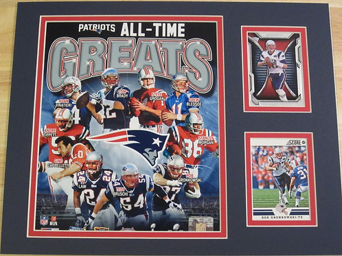 New England Patriots All-Time Greats Matted Photo