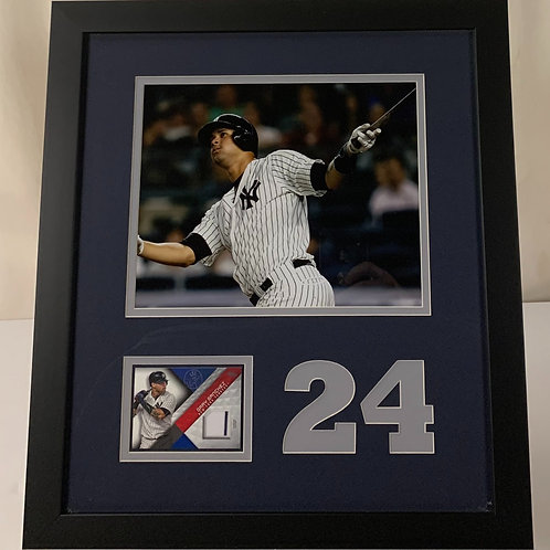 New York Yankees Gary Sanchez Game Used Jersey Card