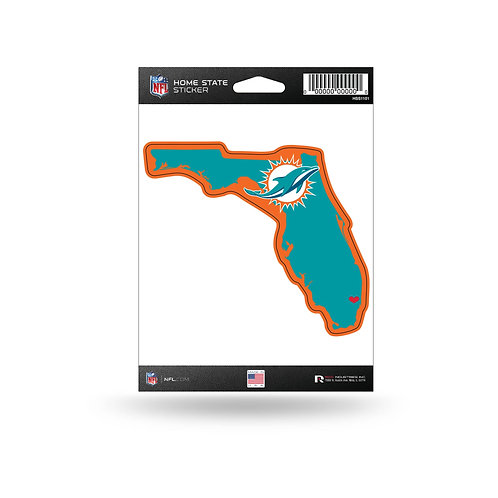 Miami Dolphins Home State Sticker
