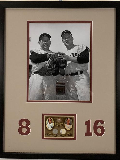 New York Yankees Yogi Berra & Whitey Ford Game Used Jersey Card