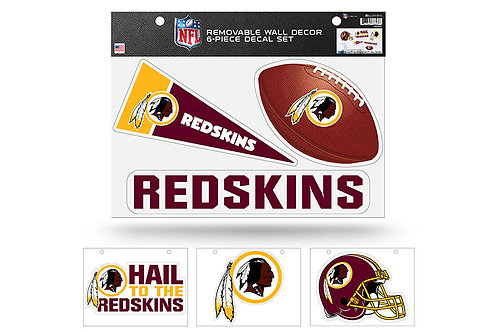 Washington Redskins 6 pack Wall Decals