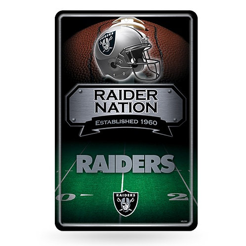 Las Vegas Raiders Metal Sign