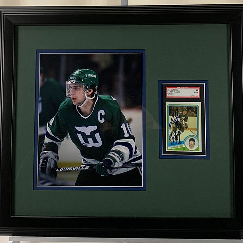 Hartford Whalers Ron Francis Autographed Card