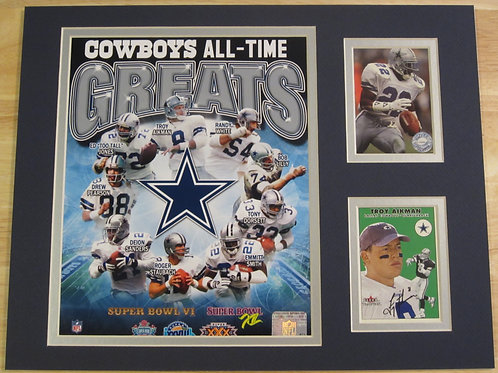 Dallas Cowboys All-Time Greats Matted Photo