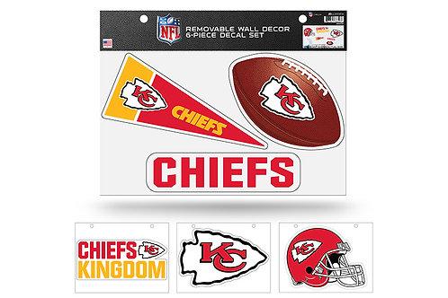 Kansas City Chiefs6 pack Wall Decals