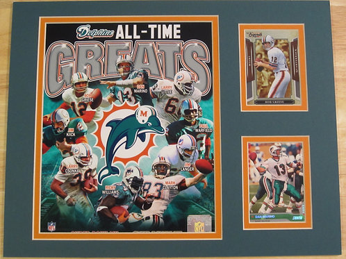 Miami Dolphins All-Time Greats Matted Photo