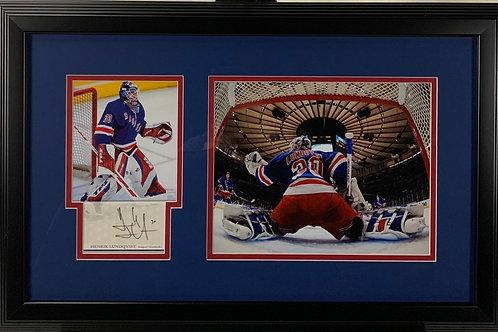 New York Rangers Henrik Lundqvist Upper Deck Autograph Jumbo Card