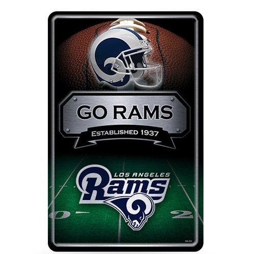 Los Angles Rams Metal Sign