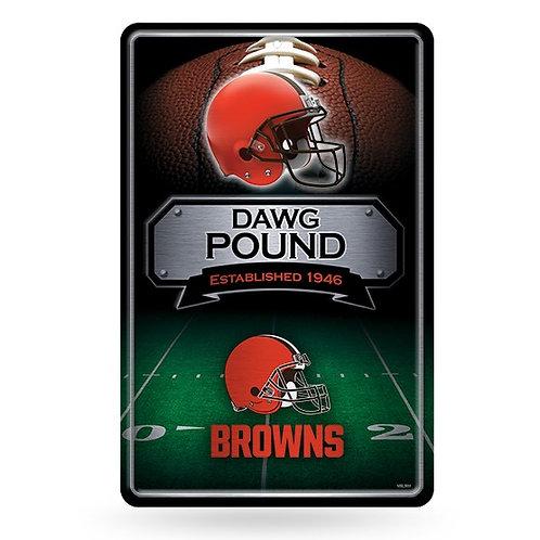Cleveland Browns Metal Sign