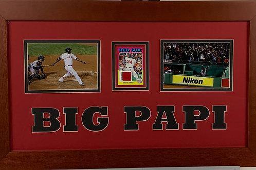 Boston Red Sox David Big Papi Ortiz Game Used Jersey Mini Card