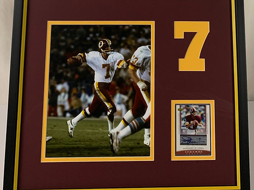 Washington Redskins Joe Theismann Autographed Card
