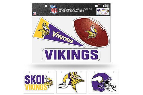 Minnesota Vikings 6 pack Wall Decals