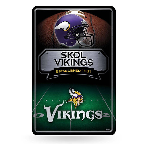 Minnesota Vikings Metal Sign