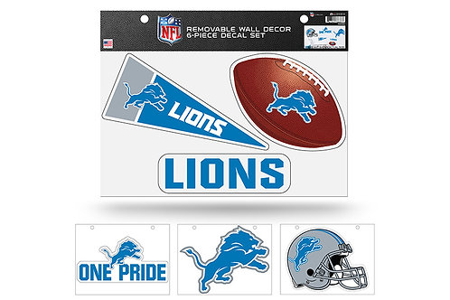 Detroit Lions 6 pack Wall Decals
