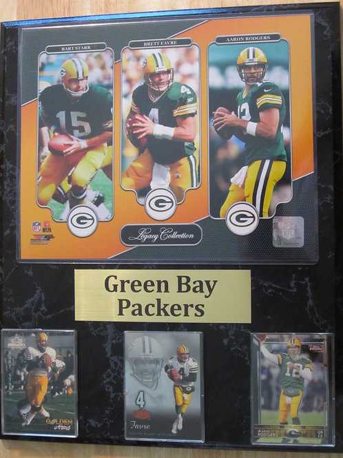 Green Bay Packers QB Legacy Plaque