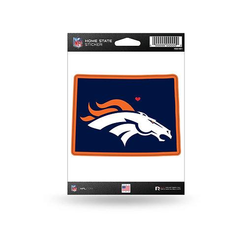 Denver Broncos Home State Sticker