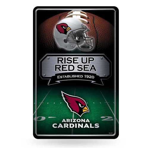 Arizona Cardinals Metal Sign