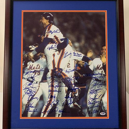 New York Mets 1986 Championship Team 35 Autographs