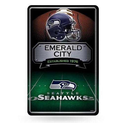 Seattle Seahawks Metal Sign