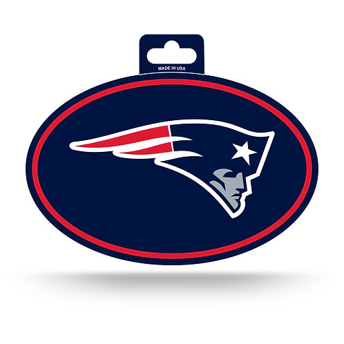 New England Patriots Oval Sticker