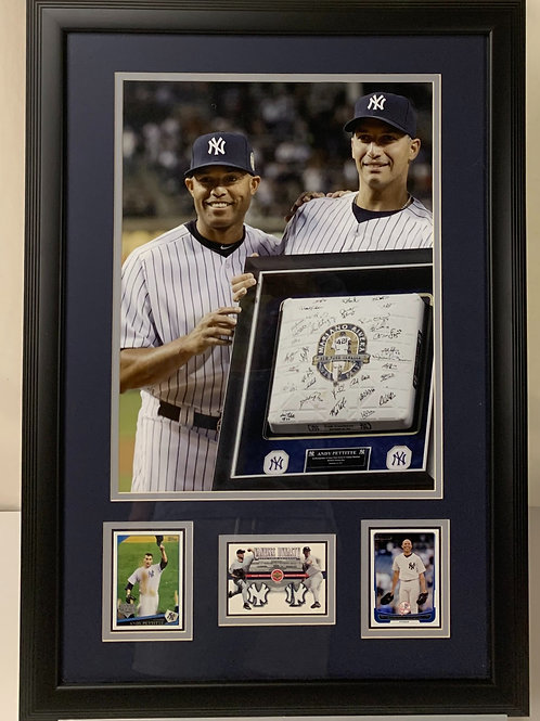 New York Yankees Mariano Rivera & Andy Pettitte Game Used Jersey Cards