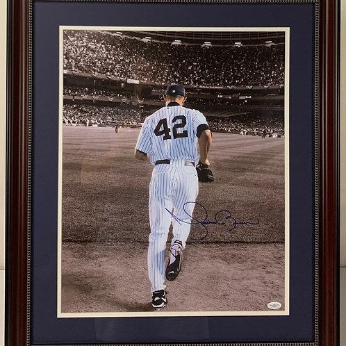 New York Yankees Mariano Rivera Autographed Enter Sandman Photo