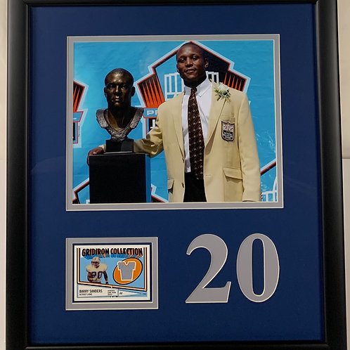 Detroit Lions Barry Sanders Game Used Jersey Card