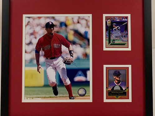 Boston Red Sox Nomar Garciaparra Autographed Game Used Jersey Card