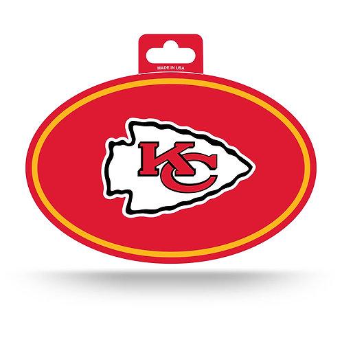 Kansas City Chiefs Oval Sticker