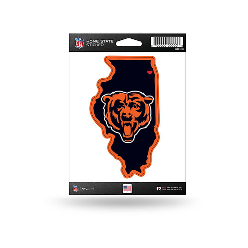 Chicago Bears Home State Sticker